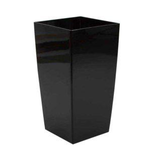 עציץ סטנדרטי מרובע שחור מבריק