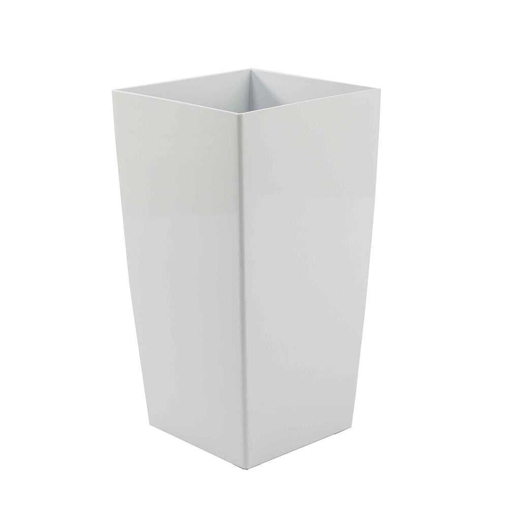 עציץ סטנדרטי מרובע לבן מבריק