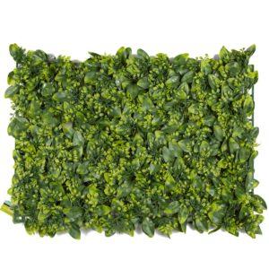 פאנלים ירוק עם עלים משולבים