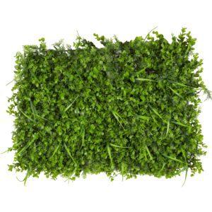 פאנלים ירוק דמוי קליפטוס ודשא
