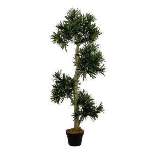 צמח מעוצב מגיע עומד בעציץ דקורטיבי